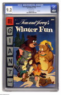 Golden Age (1938-1955):Cartoon Character, Dell Giant Comics Tom & Jerry's Winter Fun #4 (Dell, 1955) CGC NM- 9.2 Off-white pages. Overstreet 2004 NM- 9.2 value = $125...