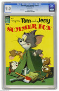 Golden Age (1938-1955):Cartoon Character, Dell Giant Comics Tom & Jerry Summer Fun #1 (Dell, 1954) CGC VF/NM 9.0 Off-white pages. Droopy story written by Carl Barks. ...
