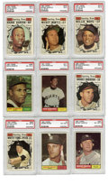 Baseball Cards:Sets, 1961 Topps Baseball Complete Set (587) Variations (6) PlusWrapper.Offered is a 1961 Topps baseball complete set of 587card...