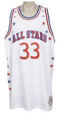 Basketball Collectibles:Others, Larry Bird Signed Throwback All-Star Jersey. What we present hereis an amazing Mitchell & Ness white mesh replica throwbac...