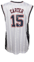 Basketball Collectibles:Others, Vince Carter Signed Jersey. Ridiculous athlete Vince Carter has spent much time on NBA courts creating many a highlight reel...