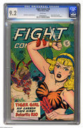 Golden Age (1938-1955):Adventure, Fight Comics #58 (Fiction House, 1948) CGC NM- 9.2 White pages. We love Fight Comics, and not for the fights, either. As...