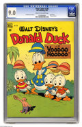 "Golden Age (1938-1955):Funny Animal, Four Color #238 Donald Duck in ""Voodoo Hoodoo"" (Dell, 1949) CGCVF/NM 9.0 Cream to off-white pages. Remember ""Voodoo Hoodoo?..."