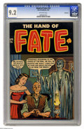 Golden Age (1938-1955):Horror, The Hand of Fate #10 Bethlehem pedigree (Ace, 1952) CGC NM- 9.2 Off-white pages. A spooky pre-Code cover confirms two old ad...