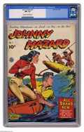 Golden Age (1938-1955):Adventure, Johnny Hazard #7 (King Features Syndicate, 1949) CGC NM- 9.2 Cream to off-white pages. New stories, not reprints. Overstreet...