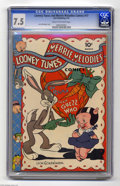 Golden Age (1938-1955):Funny Animal, Looney Tunes and Merrie Melodies Comics #17 (Dell, 1943) CGC VF-7.5 Cream to off-white pages. Leon Schlesinger cover. This ...