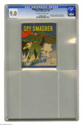 Golden Age (1938-1955):War, Mighty Midget Comics Spy Smasher #11 (Fawcett, 1942) CGC VF/NM 9.0Off-white to white pages. Overstreet 2004 VF/NM 9.0 value...