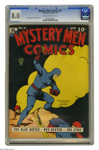 Mystery Men Comics #21 (Fox, 1941) CGC VF 8.0 Cream to off-white pages. Featuring the Blue Beetle. George Tuska and Dick...