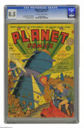 Golden Age (1938-1955):Science Fiction, Planet Comics #9 (Fiction House, 1940) CGC VF+ 8.5 Off-white towhite pages. We're fortunate enough to see later Planet ...