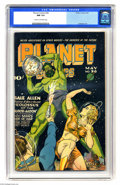 Golden Age (1938-1955):Science Fiction, Planet Comics #36 (Fiction House, 1945) CGC NM 9.4 Cream tooff-white pages. Murphy Anderson is perhaps the best-known artis...
