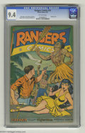 """Golden Age (1938-1955):Adventure, Rangers Comics #35 (Fiction House, 1947) CGC NM 9.4 Off-white pages. CGC puts this issue in the """"bondage cover"""" category, an..."""