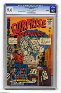 Surprise Adventures #3 Bethlehem pedigree (Sterling Comic Group, 1955) CGC VF/NM 9.0 Off-white to white pages. Mike Seko...