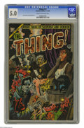 Golden Age (1938-1955):Horror, The Thing! #11 (Charlton, 1953) CGC VG/FN 5.0 Cream to off-whitepages. Necronomicon story. Hansel and Gretel parody. Injury...