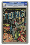 Golden Age (1938-1955):Horror, The Thing! #12 (Charlton, 1954) CGC FN 6.0 Off-white pages. Thisissue features quite a milestone: the first published comic...