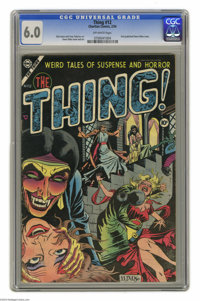 The Thing! #12 (Charlton, 1954) CGC FN 6.0 Off-white pages. This issue features quite a milestone: the first published c...