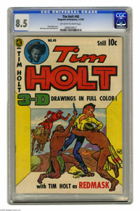 Tim Holt #40 (Magazine Enterprises, 1954) CGC VF+ 8.5 Off-white to white pages. Drawn with a 3-D effect (no 3-D glasses...