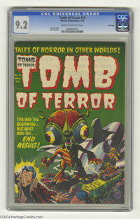 Tomb of Terror #14 File Copy (Harvey, 1954) CGC NM- 9.2 Cream to off-white pages. This special science fiction issue has...