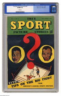 True Sport Picture Stories V4#8 Mile High pedigree (Street & Smith, 1948) CGC VF/NM 9.0 White pages. The best copy y...