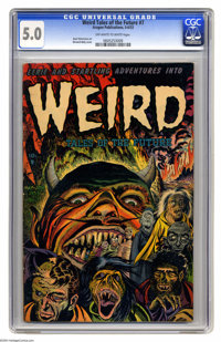 Weird Tales of the Future #7 (Aragon, 1953) CGC VG/FN 5.0 Off-white to white pages. Bernard Baily's flat-out frightening...