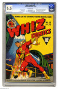 Golden Age (1938-1955):Superhero, Whiz Comics #25 (Fawcett, 1941) CGC FN+ 6.5 Off-white pages. This landmark issue gave us the origin and first appearance of ...