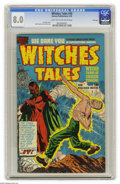 Golden Age (1938-1955):Horror, Witches Tales #10 File Copy (Harvey, 1952) CGC VF 8.0 Light tan tooff-white pages. Lee Elias cover. Bob Powell and Joe Cert...
