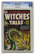 Golden Age (1938-1955):Horror, Witches Tales #17 File Copy (Harvey, 1953) CGC NM- 9.2 Cream tooff-white pages. Dangers that lurk in caves were a common en...