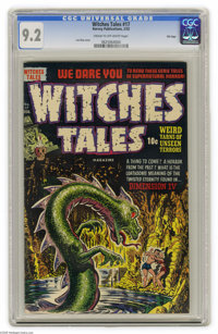 Witches Tales #17 File Copy (Harvey, 1953) CGC NM- 9.2 Cream to off-white pages. Dangers that lurk in caves were a commo...