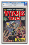 Golden Age (1938-1955):Horror, Witches Tales #27 File Copy (Harvey, 1954) CGC VF+ 8.5 Cream tooff-white pages. Lee Elias cover. Elias and Bob Powell art. ...