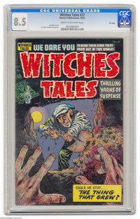 Witches Tales #27 File Copy (Harvey, 1954) CGC VF+ 8.5 Cream to off-white pages. Lee Elias cover. Elias and Bob Powell a...