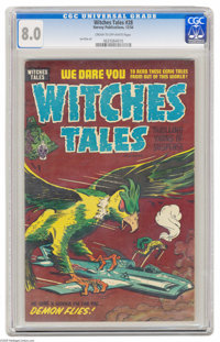 Witches Tales #28 File Copy (Harvey, 1954) CGC VF 8.0 Cream to off-white pages. Al Avison cover. Lee Elias art. Overstre...