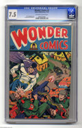 Golden Age (1938-1955):Superhero, Wonder Comics #3 (Better Publications, 1944) CGC VF- 7.5 Off-white to white pages. It's the Grim Reaper to the rescue on thi...