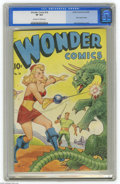 Golden Age (1938-1955):Science Fiction, Wonder Comics #18 (Better Publications, 1948) CGC VF 8.0 Off-whiteto white pages. The micro-miniskirt was a phenomenon of t...