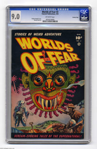 Worlds of Fear #3 Crowley pedigree (Fawcett, 1952) CGC VF/NM 9.0 Off-white pages. This copy is from the files of former...