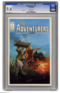 Adventurers Group (Aircel, 1986) CGC NM 9.4 White pages (both issues). This group includes #1 and the variant cover edit...