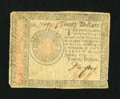 Colonial Notes:Continental Congress Issues, Continental Currency January 14, 1779 $20 Fine-Very Fine....