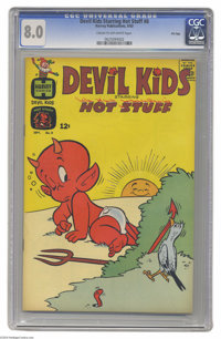 Devil Kids #8 File Copy (Harvey, 1963) CGC VF 8.0 Cream to off-white pages. Starring Hot Stuff, the Little Devil. Overst...
