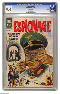 Espionage #1 Curator pedigree (Dell, 1964) CGC NM 9.4 White pages. Tie-in to the short-lived NBC TV show of the same nam...