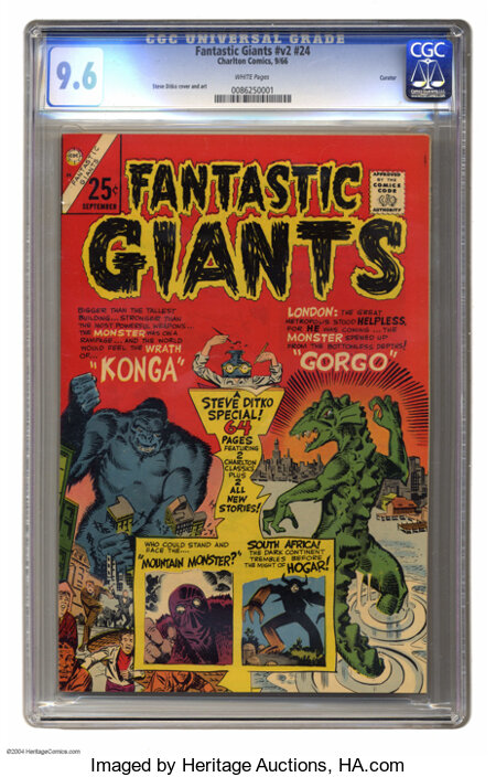 Fantastic Giants #24 Curator pedigree (Charlton, 1966) CGC NM+ 9.6 White pages. Giant with 64 pages. The only issue of this ...
