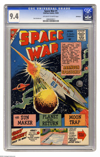 "Space War #1 Bethlehem pedigree (Charlton, 1959) CGC NM 9.4 Off-white to white pages. Long before George Lucas and ""..."