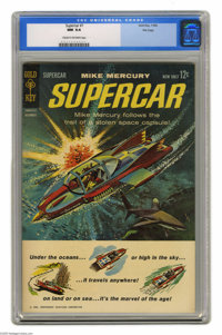 """Supercar #1 File Copy (Gold Key, 1962) CGC NM 9.4 Cream to off-white pages. If the words """"Thunderbirds are go!""""..."""