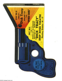 Dick Tracy Paper Noise-Maker Gun - Movie Giveaway (Deep River Theatre, 1937) Condition: VF. This rare paper noise-maker...