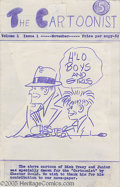 """Original Comic Art:Covers, Chester Gould - The Cartoonist #1 Cover Original Art (undated).""""H'lo boys and girls"""". Chester Gould drew this specialty dra..."""