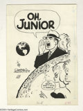 """Original Comic Art:Sketches, Chester Gould - Dick Tracy Illustration Original Art (circa mid-60s). """"Oh, Junior"""" was most likely created for the National ..."""