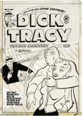 Original Comic Art:Covers, Al Avison (attributed) - Dick Tracy #29 Cover Original Art (Harvey,1950). Dick Tracy matches wits with the ruthless killer,...
