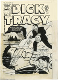 Original Comic Art:Covers, Al Avison - Dick Tracy #62 Cover Original Art (Harvey, 1954). Thementally deranged dress designer, Sketch Paree, dunks the ...