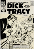 Original Comic Art:Covers, Al Avison (attributed) - Dick Tracy #118 Cover Original Art(Harvey, 1957). Sleet jumps from the rooftop onto the water tank...
