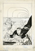 Original Comic Art:Covers, Al Avison (attributed) - Dick Tracy #140 Cover Original Art(Harvey, 1960). Chester Gould's Dick Tracy comic strip wast...