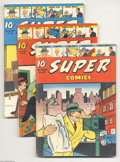 Golden Age (1938-1955):Miscellaneous, Super Comics Group (Dell, 1939-47). Offered here is an impressive group of 14 issues of Super Comics, each issue (and so... (Total: 14 Comic Books Item)