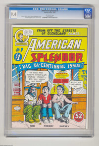 American Splendor #1 (Harvey Pekar, 1976) CGC NM 9.4 Off-white pages. Harvey Pekar's ground-breaking autobiographical co...