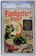 Silver Age (1956-1969):Superhero, Fantastic Four #1 (Marvel, 1961) CGC FR/GD 1.5 Off-white to white pages....